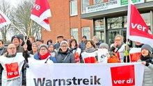 Beschäftigte der »Bergedorfer Zeitung« gehen wieder auf die Straße.