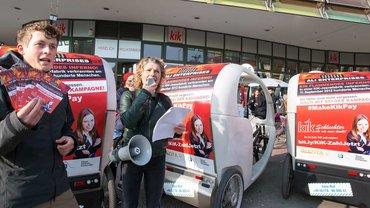 Velo-Taxis erinnern Kik an noch nicht gezahlten Schadensersatz