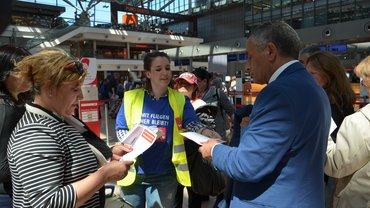 Internationaler IATA-Aktionstag | Flughafen Hamburg am 1. Juni 2016