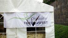Unbekannte zerstörten das Zelt und das Transparent des Ohlsdorfer Friedensfestes.
