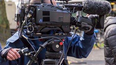 Foto einer Fernsehkamera