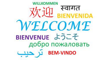 """""""Willkommen"""" in vielen Sprachen"""