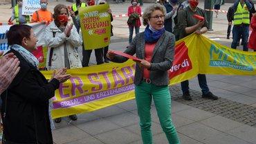 Aktion Daseinsfürsorge auf dem Rathausmarkt