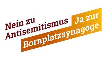 """Claim: """"Ja zur Bornplatzsynagoge"""""""