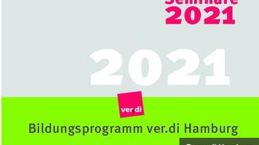 Titelblatt des Bildungsprogramms von ver.di Hamburg.