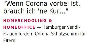 Ausschnitt aus der Hamburg-Seite der Online-Ausgabe der Publik 1/21.