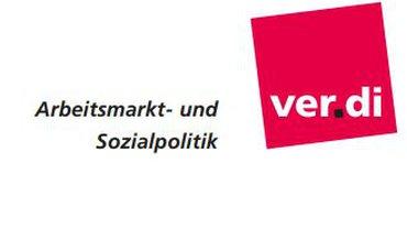 Logo des Bereiches ver.di Arbeitsmarkt- und Sozialpolitik.