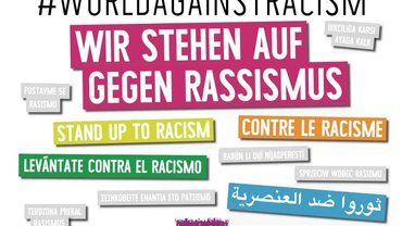 Logo für die internationalen Aktionstage gegen Rassismus