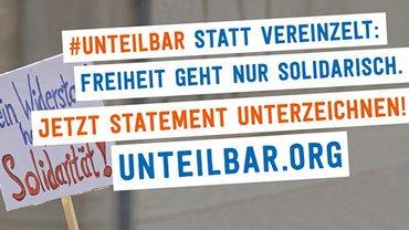 Bildmarke der Kampagne für die Petition #unteilbar