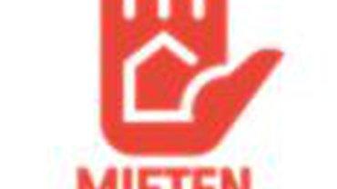 Logo der Kampagne Mietenstopp: Eine zur Abwehr hochgehaltene Hand